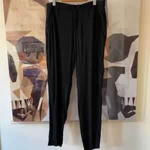 Helmet Lang flowy dress pants trousers in black